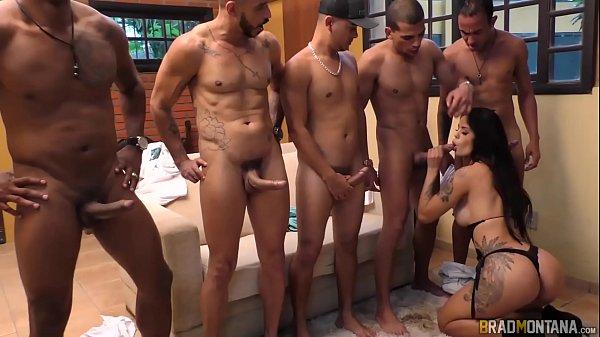Sexo com morena Shayene Samara fodendo com dotados