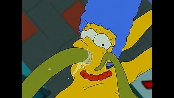 Os Simpsons Hentai anal Marge sendo estrupada