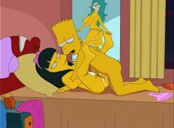 Hentai dos Simpsons: Jessica Lovejoy trepando com Bart