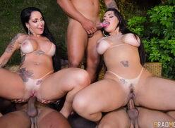 Angel Lima e Elisa Sanches fazendo orgia brasileira