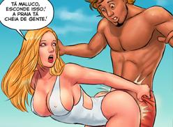 Irmãos foram flagrados fazendo sexo na praia